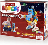Velcro Kids Construction Set Building Blocks, Lightweight Foam, for Age 3+