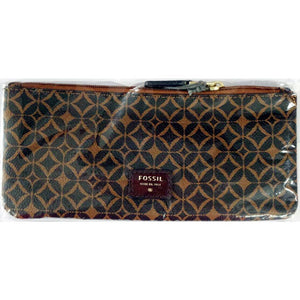 Fossil Paige Zip Pouch Multi Brown