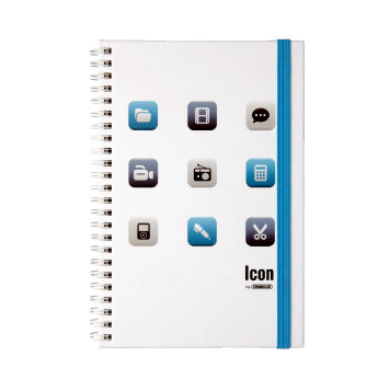 Grandluxe A5 Twin Wire Icon Notebook