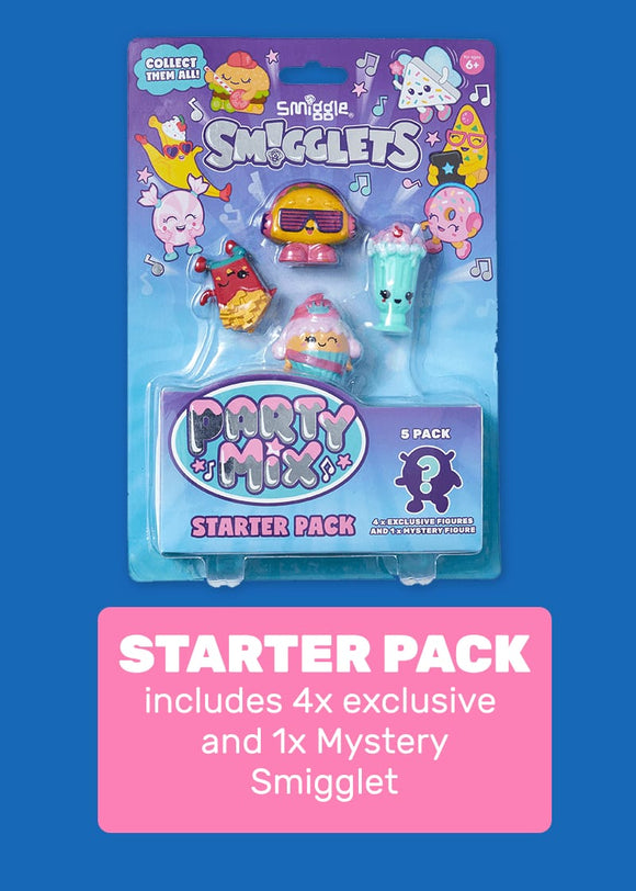 Smiggle Smigglets Starter Pack (Hangry Heroes & Party Mix)