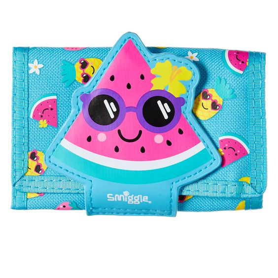 SMIGGLE: YUMS CHARACTER WALLET (LIGHT BLUE)