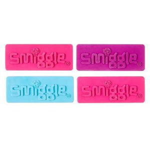 Smiggle Jumbo Eraser with raised Smiggle logo