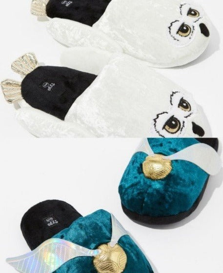 Typo Harry Potter Novelty Slippers SNITCH & HEDWIG