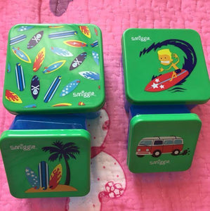 SMIGGLE: SET OF 4 SNACK BOXES (GREEN)