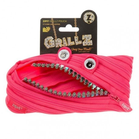 ZIPIT Grillz Original Pencil Case - Pink