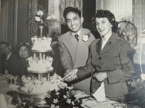 Mum and Dad (Jean and Salamat) on their wedding day in England