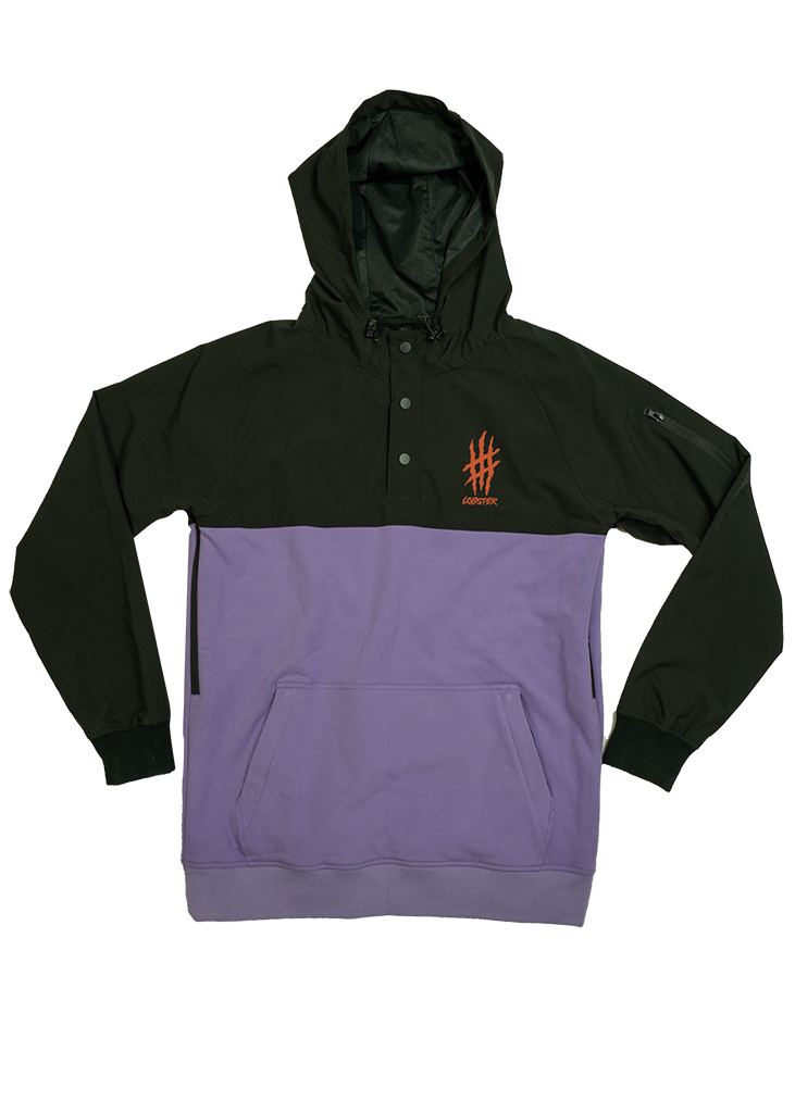 Lobster riding hoodie product photo by Lobster snowboards