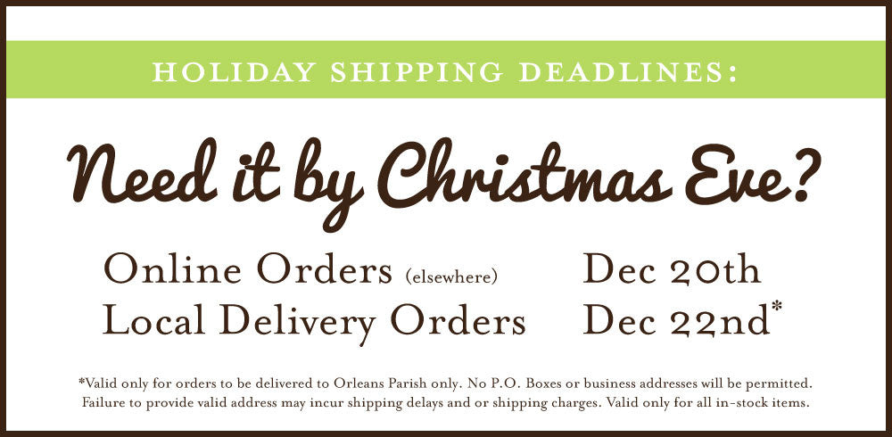 Shipping Deadlines for Christmas 2016