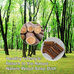 Dark Wood Soap Dish 2pk