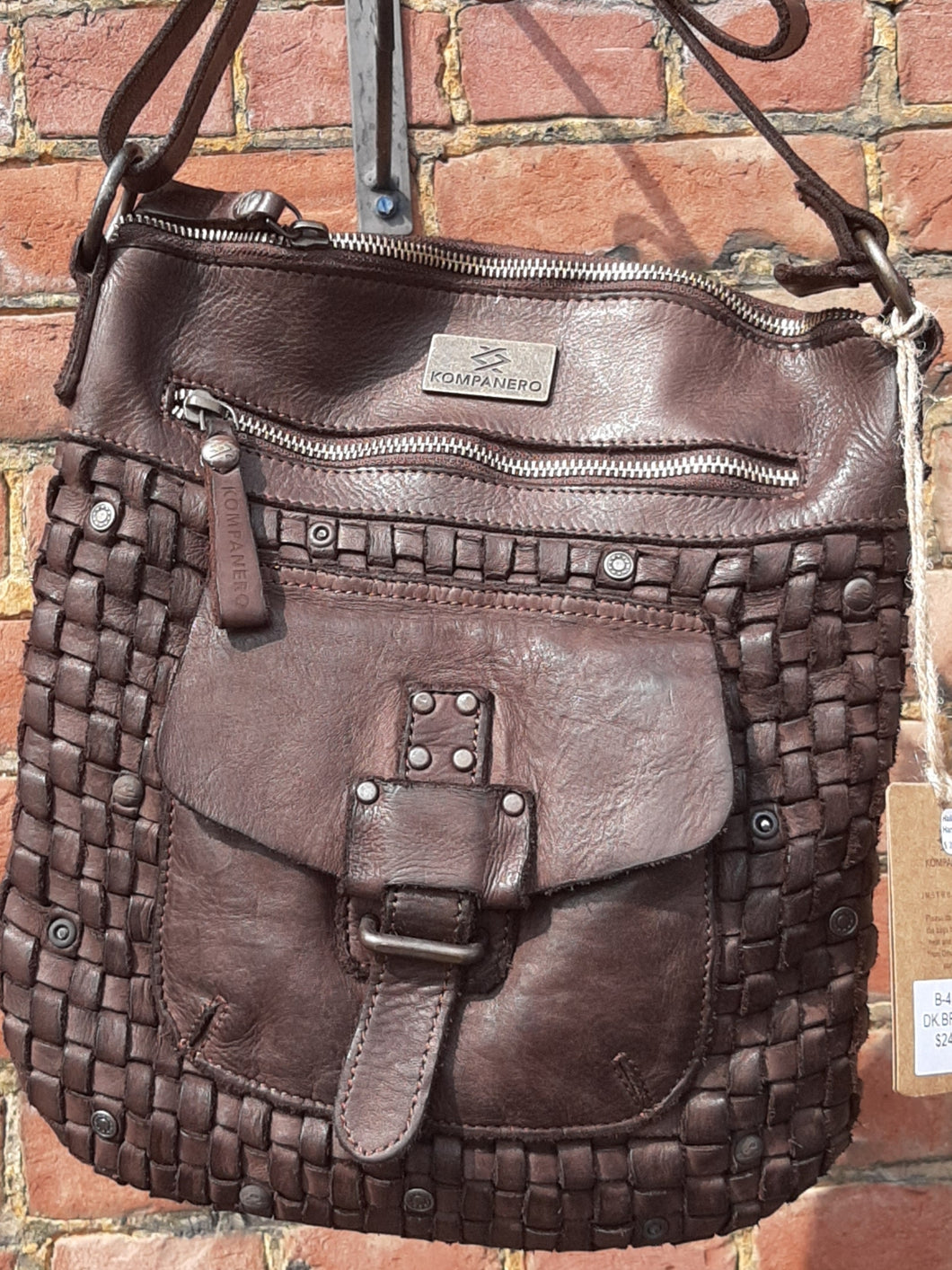Kompanero Leather Hand Bag - Hailey (Dk Brown)
