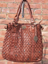 Load image into Gallery viewer, Kompanero Leather Hand Bag - Dina (Tobacco)