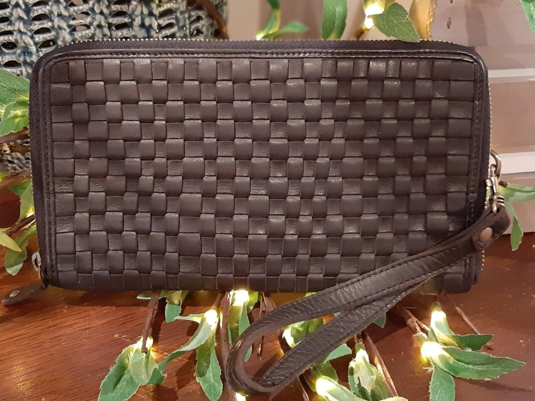 Kompanero Leather Clutch- Lerin (Black)