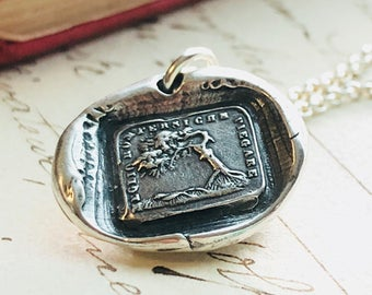 Better To Bend Then To Break Wax Seal Necklace 18