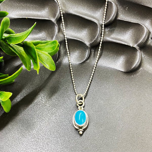 Birthstone Necklace: December/Turquoise