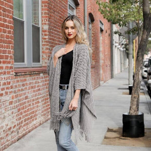 Knit Tassel Grey