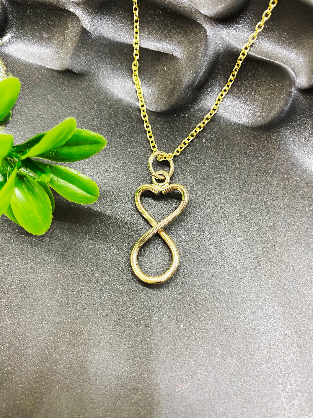 Chad Miller Metalsmith: Heart Swirl Necklace Gold Filled