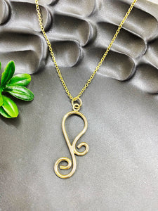Chad Miller Metalsmith: Swirl Gold Filled Necklace