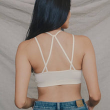 Load image into Gallery viewer, Ivory Cutout Croptop