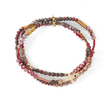 Load image into Gallery viewer, Faith Hope Love Bracelet Red