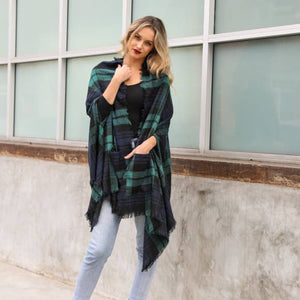 Classic Plaid Pocket Ruana