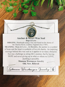 Shannon Westmeyer: Anchor Heart Wax Seal
