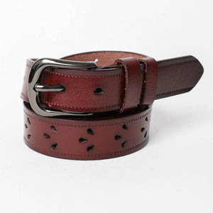 Leather Belt Petal Punch