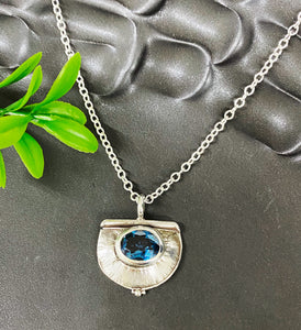 Chad Miller Metalsmith: Blue Zircon Necklace