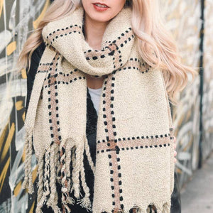 Plaid Stitch Scarf