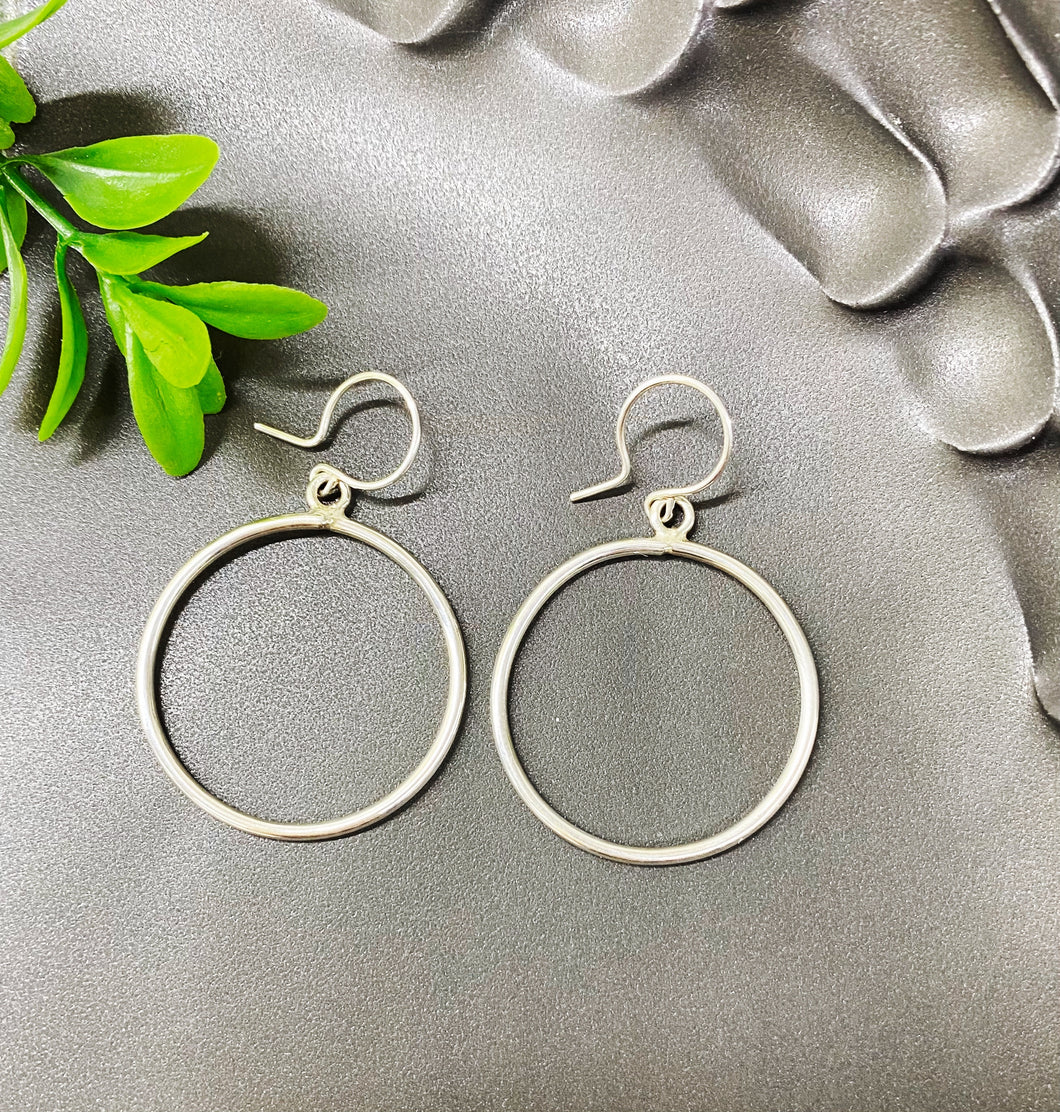 Chad Miller Metalsmith: Open Circle Earrings