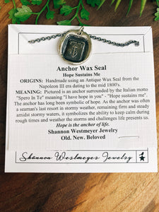 Shannon Westmeyer: Anchor Wax Seal