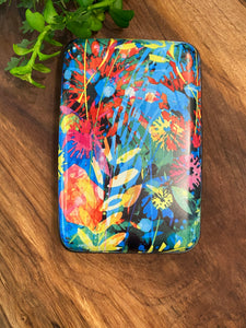 Layered Floral Armored Wallet