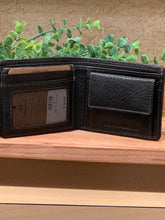 Load image into Gallery viewer, Black Men's Leather Wallet