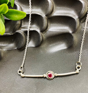 Chad Miller Metalsmith: 4mm Simulated Ruby Necklace
