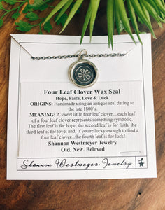 Shannon Westmeyer: Four Leaf Clover Wax Seal