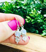 Load image into Gallery viewer, Sterling Silver: Moonstone Swirl Earrings