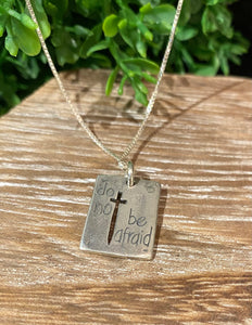 Faith > Fear Pendant Necklace