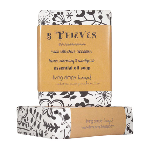 5 Thieves Essential Oil Bar Soap