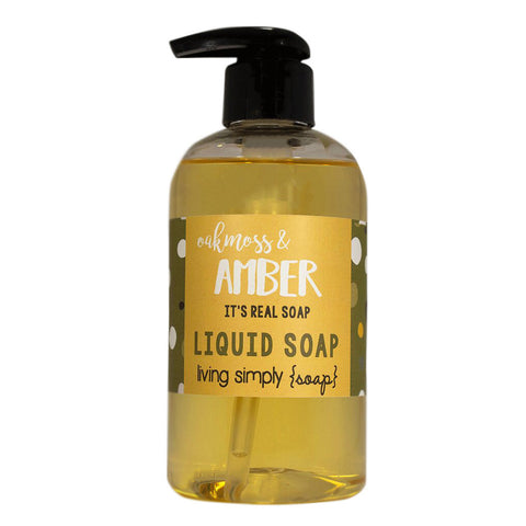 Oakmoss and Amber Liquid Soap
