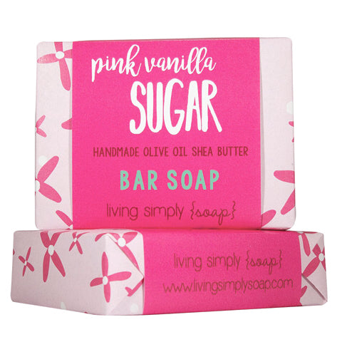 Pink Vanilla Sugar Bar Soap