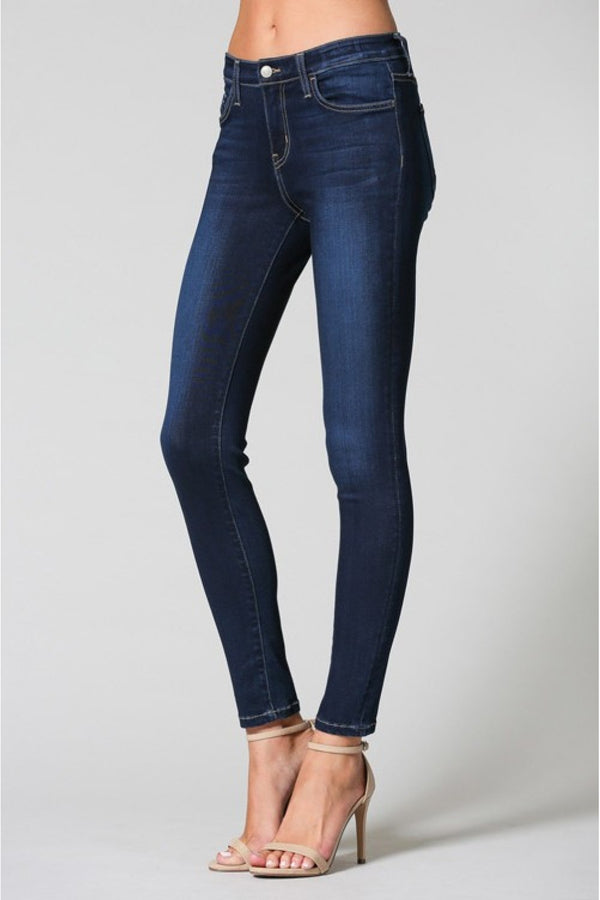 mid rise xtra lycra ankle skinny