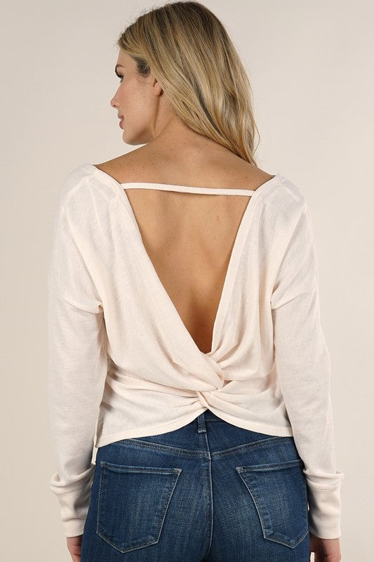 twisted back top