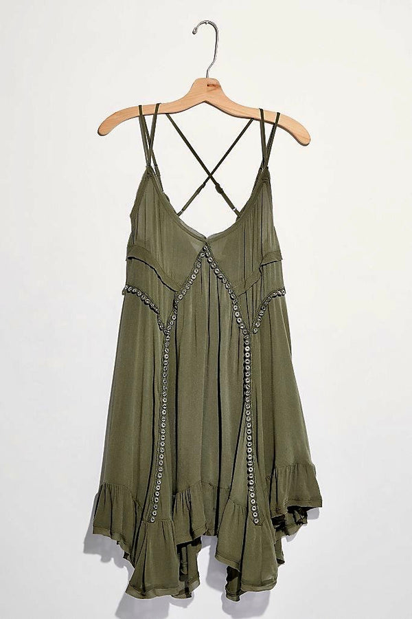 sway with me trapeze slip dress