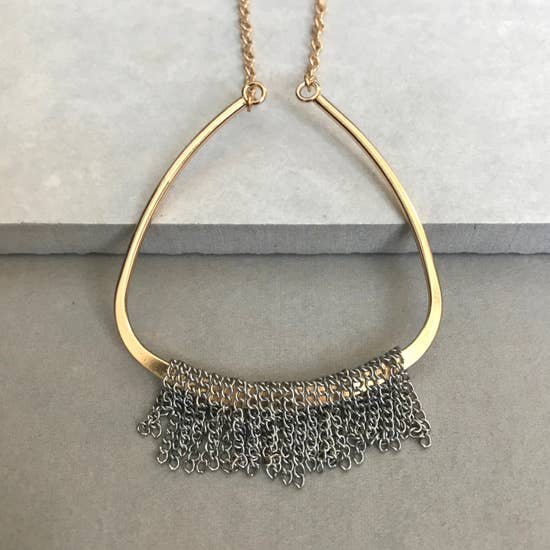 london mixed metal necklace