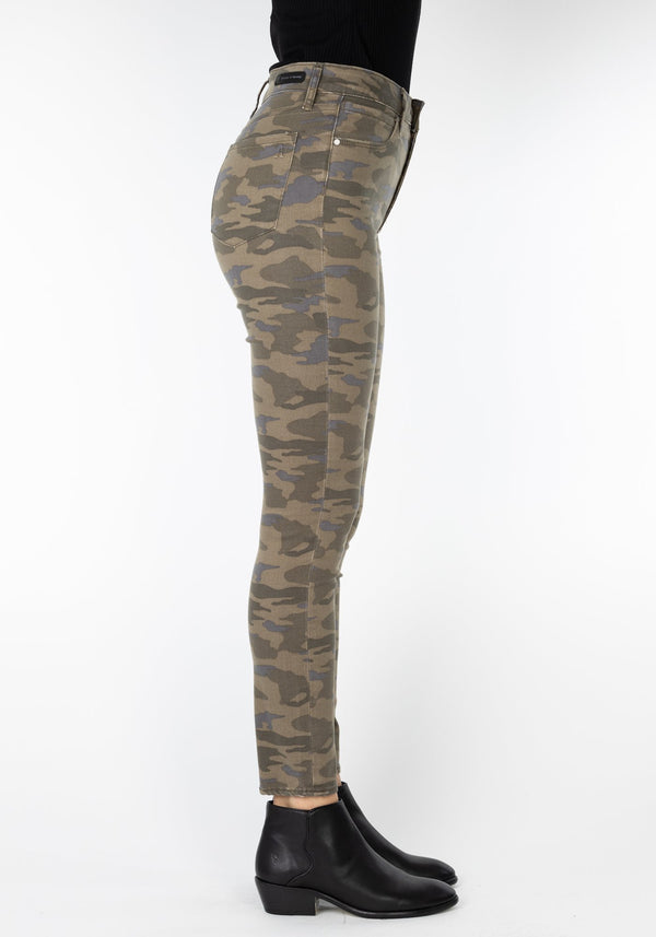 heather high rise camo pant