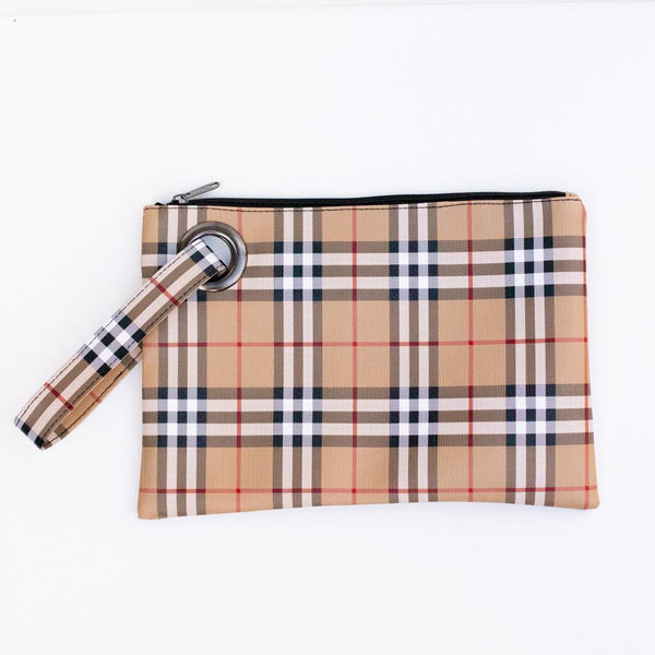 english plaid clutch