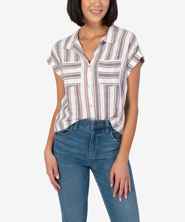 dorrie button up blouse