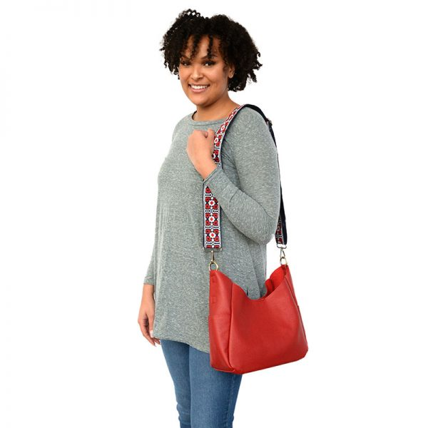 hadley hobo bag - red