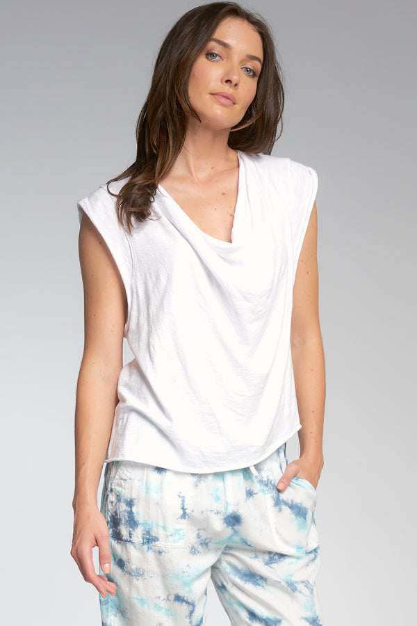 drape neck top
