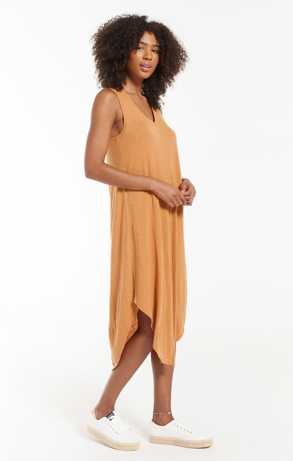 reverie midi dress - bronze