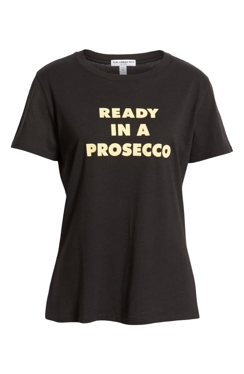 ready in a prosecco tee